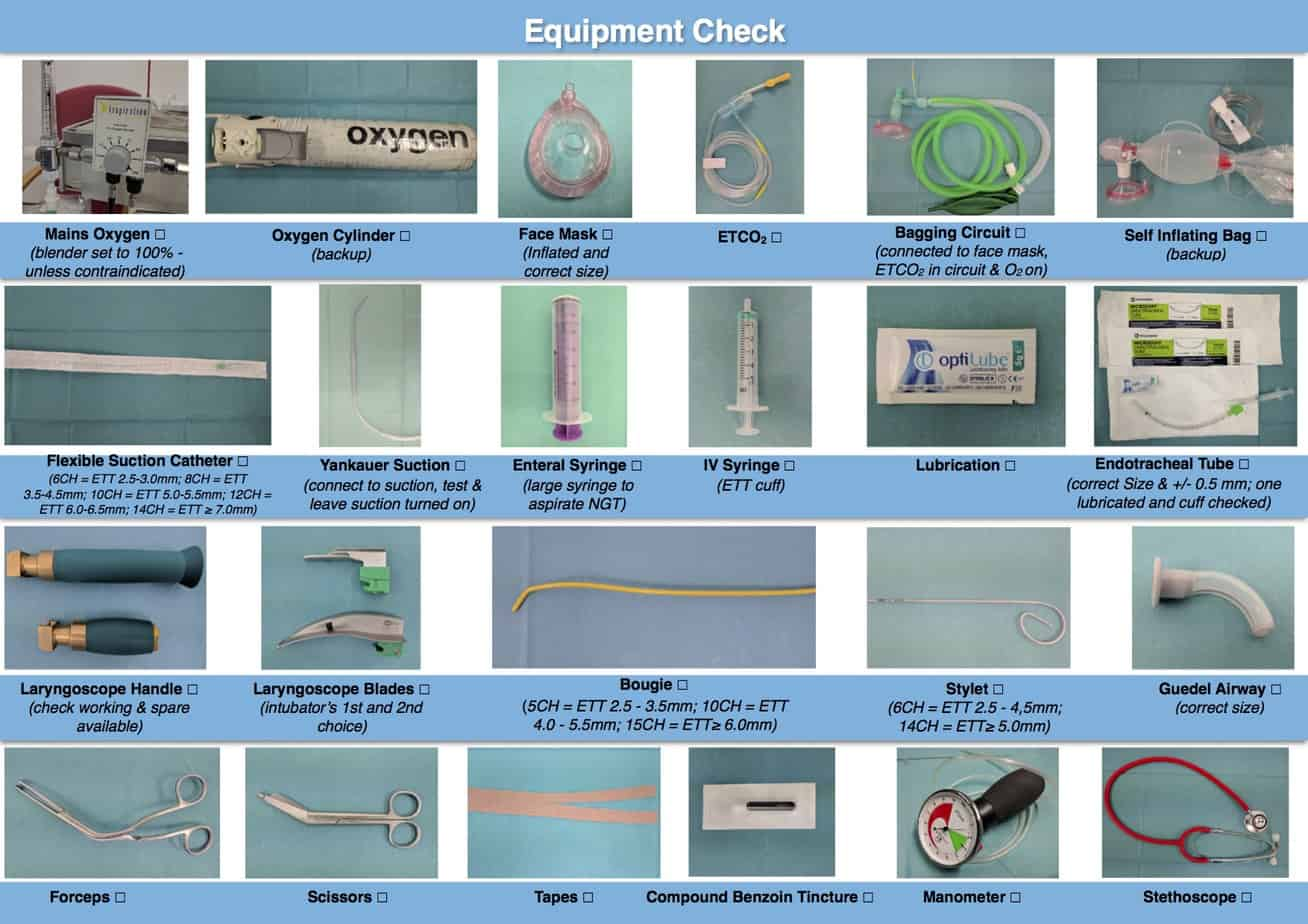 Circuito Jackson Rees : Intubation preparation and equipment paediatric emergencies